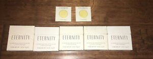 ETERNITY BY CALVIN KLEIN POWDERED PERFUM OLD FORMULA RARE LOT OF 5 - Size .14oz