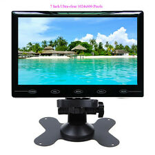 "Ultra Thin 7"" Inch TFT LCD Color 2 Video Input Car Rear View Monitor HD 1024X600"