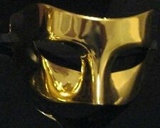 Shiny Gold Masquerade Mask, Venetian Style Fancy Dress Face Party Eye Mask