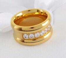 Gelbgold beschichtete Modeschmuck-Ringe für besondere Anlässe 58 (18,4 mm Ø)