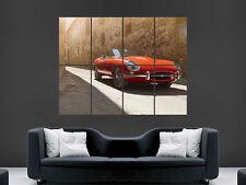 JAGUAR ETYPE CLASSIC CAR RED SPORT ART PRINT IMAGE GIANT PICTURE