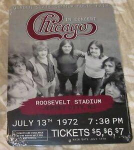 "CHICAGO 1972 ROOSEVELT STD 9""x12"" CUSTOM ALUMINUM CONCERT SIGN"