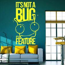 Wall Decal Sticker program not a bug feature graffiti computer phrase i130