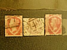Uk collection, including rare stamps: 1870, Scott # 32(P1,3), 1884, Scott # 101.