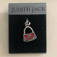 Judith Jack Charm Bracelet Charm Red Enamel Purse Sterling Silver Brand New