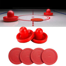Air Hockey Set Home Game Tables Goalies Replace Accessories 2 Pushers 4 Pusher