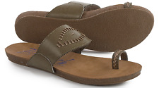 NEW BLOWFISH GOMAINE KHAKI TOE LOOP SANDALS WOMENS 7 SLIDES FLATS  FREE SHIP