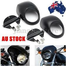 AU Front Headlight Fairing Mask Cowl For Harley Sportster Dyna FX XL 883 1200