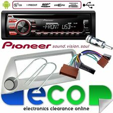 Ford KA Pioneer CD MP3 USB Car Stereo Radio Player & Silver Fascia Fitting Kit
