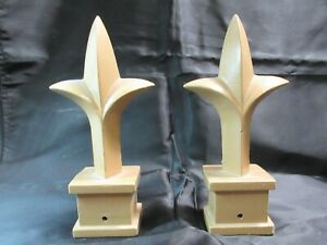 JERITH ALUMINUM FENCE 1 INCH FINIAL – MAJESTIC GOLD - SET OF 2