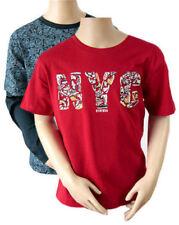 Camicia casual rossi a manica corta per bambini dai 2 ai 16 anni