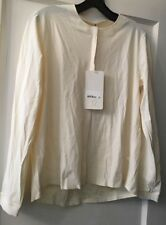 LULULEMON Sz 6 Solo Blouse Shirt Top Ivory New NWT Button Down