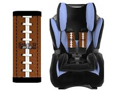 PERSONALIZED BABY TODDLER  CAR SEAT STRAP COVERS STROLLER FOOTBALL