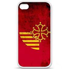 Coque housse étui tpu gel motif drapeau Languedoc Iphone 4 / 4S