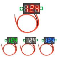 4 Color DC 4.7-32V Mini LED Panel Voltage Meter 3-Digital Adjustment Voltmeter