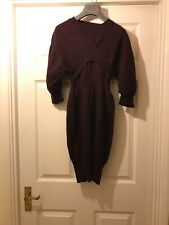 Preen Burgundy Wool 100% Knited Dress XS Very Good Condition