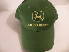 JOHN DEERE GREEN and Yellow CAP NWT Embroidered Tagline Farmer Tractor