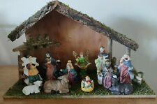 Nativity Scene with 11 Porcelain Hand Painted Figures