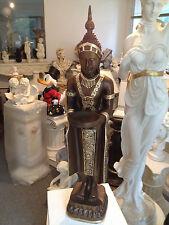 Buddha Groß 74 cm Bronze Gold  Designe Feng Shui Statue Figur Garten Wetterfest