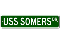 USS SOMERS DDG 34 Street Sign - Navy