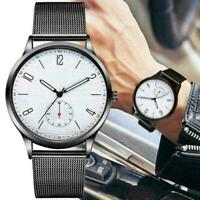 Mode Luxuxmann Thin Minimalist Uhr Dünne Mesh Edelstahl Bügel Geschenke Z8Z7