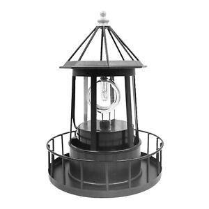 Lighthouse Solar LED Light Rotating Lamp IP65 Beacon Garden Yard Lawn Decor