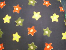 Funky RED, YELLOW & GREEN LARGE STAR THEMED Fabric (55cm x 50cm)