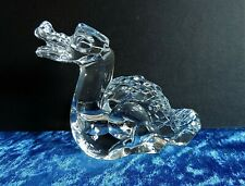 More details for baccarat crystal dragon paperweight figurine etched baccarat mark
