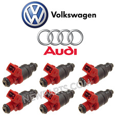 VW Passat Audi A4 A6 Quattro V6 2.8 Set of 6 Fuel Injectors Ports Injection OES