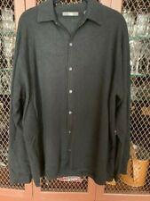 Unique Folio 100% Cashmere Button Up Sweater/Shirt Black Size L Bought at Saks