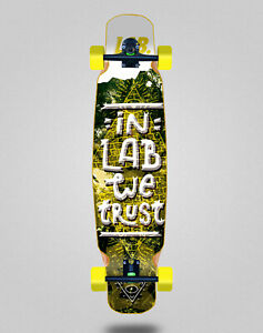 Lab skate longboard complete mix bamboo 46x9 In lab we trust