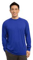 Sport-Tek Men's New Long Sleeve Dri Fit Performance Crew T-Shirt XS-4XL. ST700LS