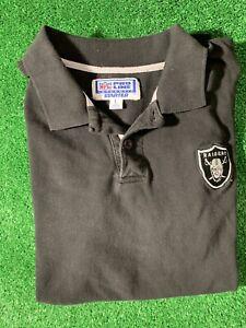 Vintage 90s Oakland Raiders Starter Polo Shirt EMBROIDERED Logo NFL ProLine Larg
