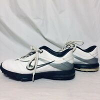 Nike AIR Academy Golf Shoes Men Size 9 M White Leather Champ Soft Spike B12
