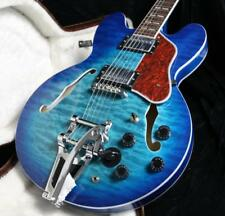 Custom Shop 345 Semi Hollow Body Electric Guitar 5A Quilt Maple 6 Position Swtic