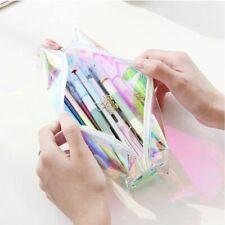 Women Colorful Laser Transparent Pencil Case Cosmetic Makeup Bag Pouch Fashion