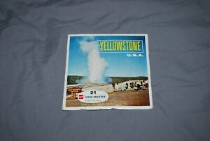 GAF VIEWMASTER PACKET REF A 306 YELLOWSTONE CHANGE OVER FROM SAWYERS AS PHOTOS