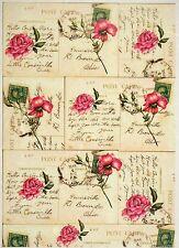 Carta di riso Rose Vintage Cartoline Per Decoupage Scrapbook Craft sheet