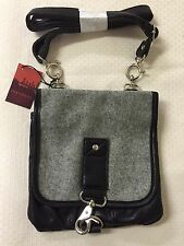 New Tokyo Bay Small Stylish Dual Compartment Handbag Faux Leather Flannel Flap