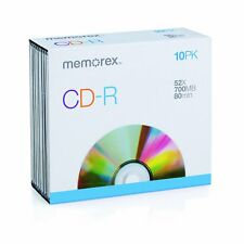 Memorex CD-R 52X 700mb 10 Pack Slim Jewel Case