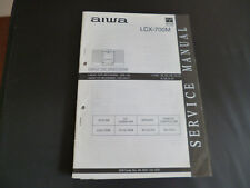 ORIGINALI service manual AIWA lcd-700m