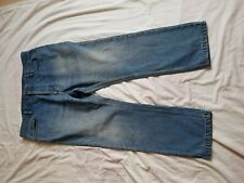 "MENS UNBRANDED FADED BLUE STRAIGHT LEG JEANS SIZE 38"" WAIST 28"" LEG"