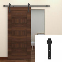 AU_ Carbon Steel Sliding Door Rail Pulley Barn Hardware Kit Interior Track Rolle