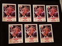 1990-91 Fleer SCOTTIE PIPPEN Basketball Card #30 Chicago Bulls (lot of 7) nm-mnt