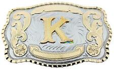Initial Letter K Western Extra Large Rodeo Cowboy Belt Buckle