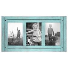 Wood Picture Photo Frame Collage 4x6 Turquoise Distressed Rustic Home Decor New
