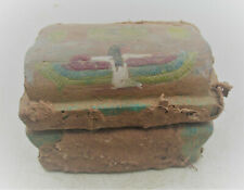More details for beautiful ancient egyptian stone glaze safebox box with heiroglyphics