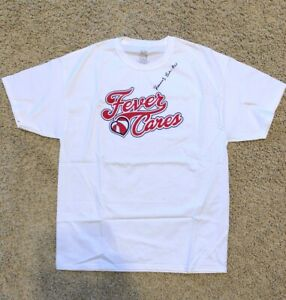 Indiana Fever Autograph T-shirt Kennedy Valentine Burke UCLA XL WNBA Signed New