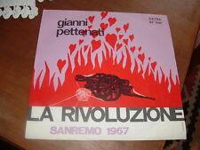 """GIANNI PETTENATI  SANREMO'67 """" LA RIVOLUZIONE  """" ITALY"""