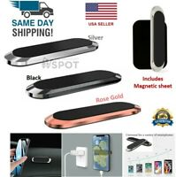 Mini Strip Shape Magnetic Car Phone Holder Stand For iPhone Samsung Magnet Mount